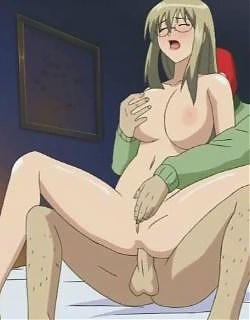 Big breasted blonde hentai cutie jumping a masked dude`s huge dick