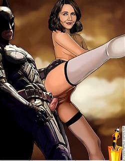 Batman stretches pussy