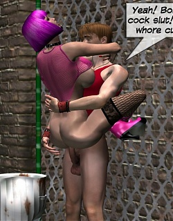 3D alley whore gets fucked deep and hard in her pussy