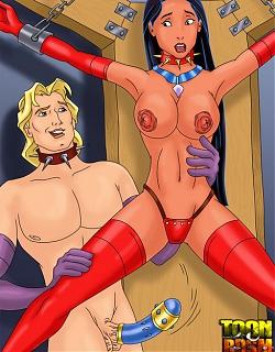 Pocahontas and John Smith enjoying brutal banging