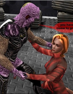 3D bitch getting fucked by a horny alien