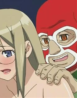 Over sexed blonde hentai minx gets pussy humped by a fat masked dude