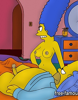 Marge and Homer Simpsons are fucking hard to all holes