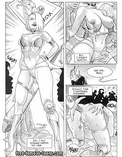 Lusty blonde fucked hard by cosplay comic heroes