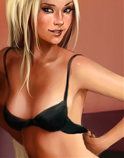 Teenage girl posing nude in front of cam for the very first time on porn comics