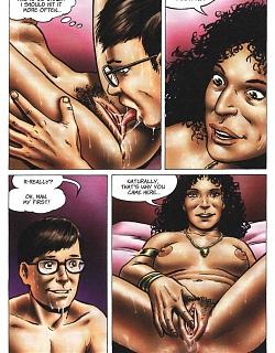 Teenie boy was seduced by breasty brunette woman with big tits