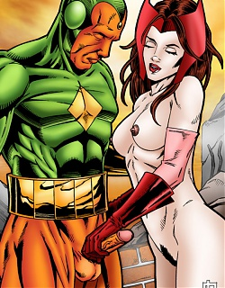 Scarlet Witch has kinky sex with The Vision