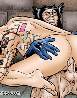 Lady Deathstrike takes brutal anal sex from Wolverine