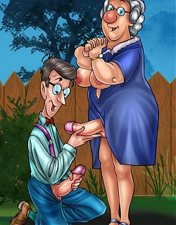 Toon MILF and granny rocking shemale dicks