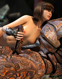 For some hot cute girls, it seems a great pleasure to sit down on a rusty pin and ride it like an unmet whore